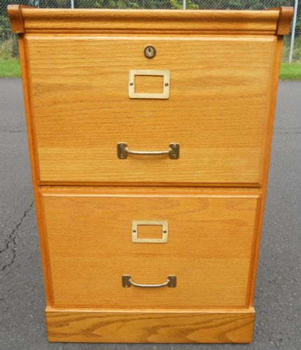 Small Oak Filing Cabinet